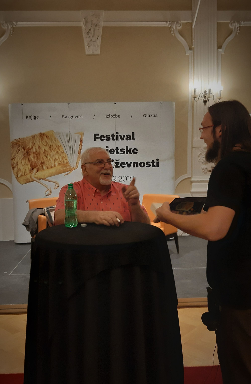 Jorge Bucay i autor Mario Zulić uhvaćeni u trenutku