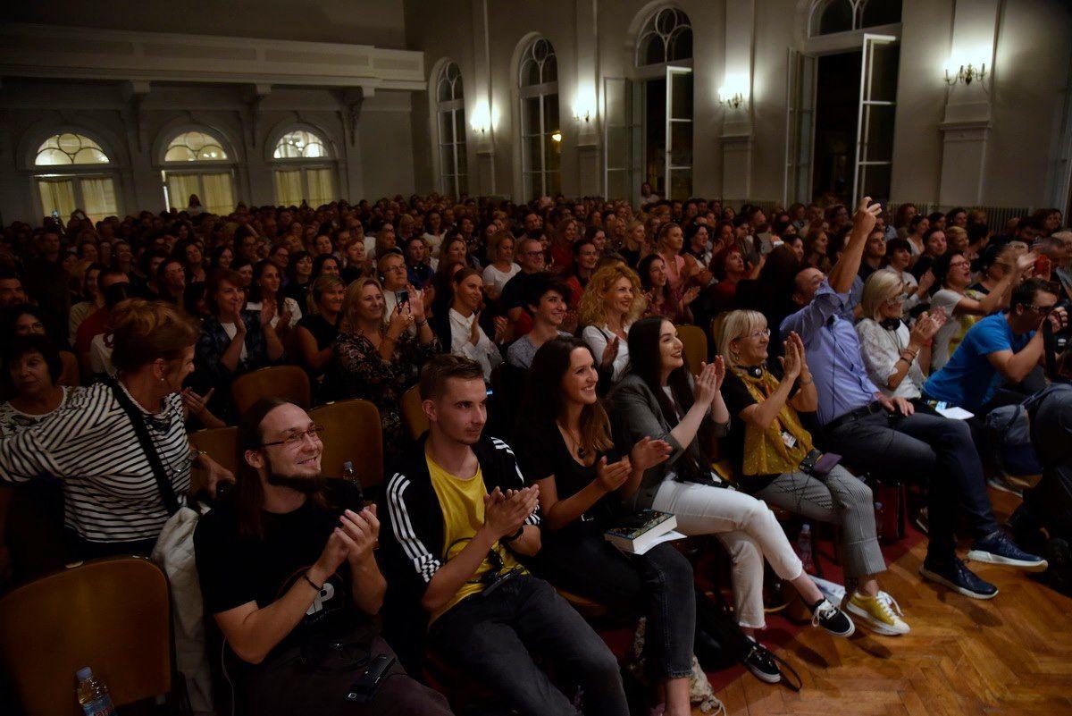 publika nakon izlaganja Jorge Bucaya na Festivalu književnosti